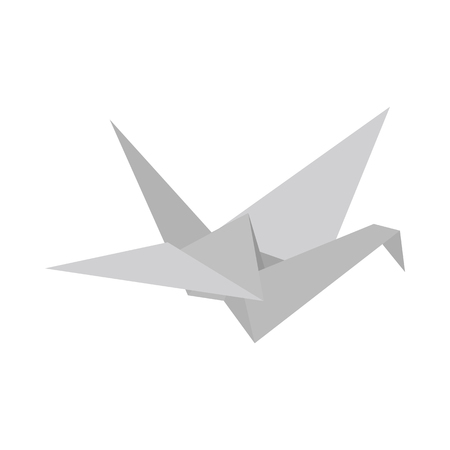 Paper Dove icon in isometric 3d style on a white background