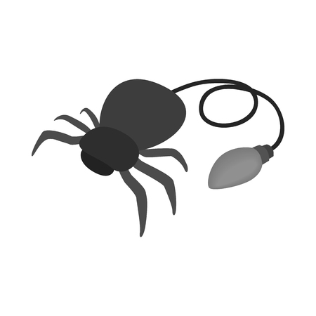 Fake rubber spider icon, isometric 3d style