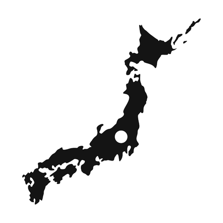 Map of Japan icon, simple style Stok Fotoğraf