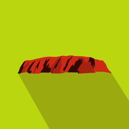 Majestic Uluru icon, flat style Stock Photo