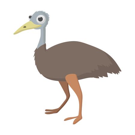 Emu icon, cartoon style