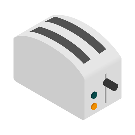 Toaster icon, isometric 3d style