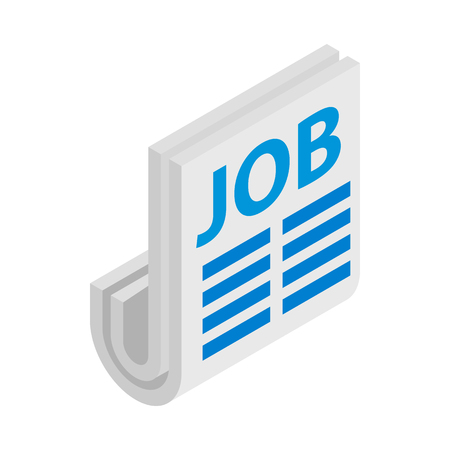 Newspaper with the headline Job icon Banque d'images - 107739348
