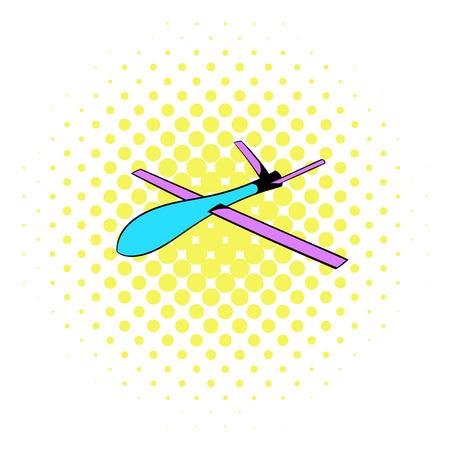 Glider icon, comics style Stock Photo