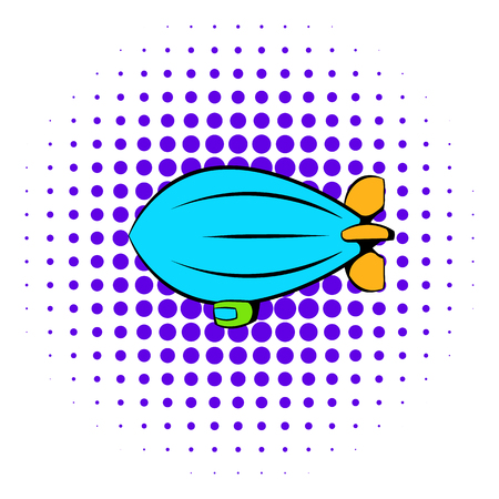 Airship icon, comics style Banque d'images