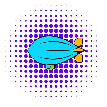 Airship icon, comics style Imagens
