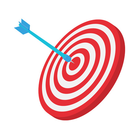Target icon, cartoon style