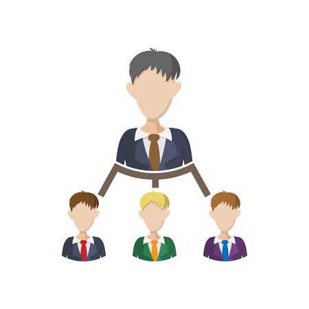 Company structure icon, cartoon style