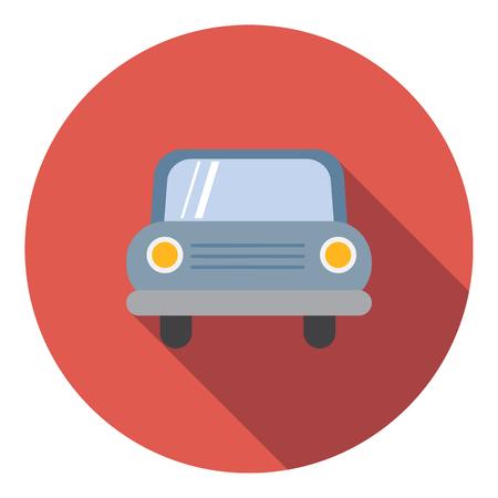 Car icon, flat style Фото со стока