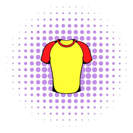Sport shirt icon, comics style Stock Photo