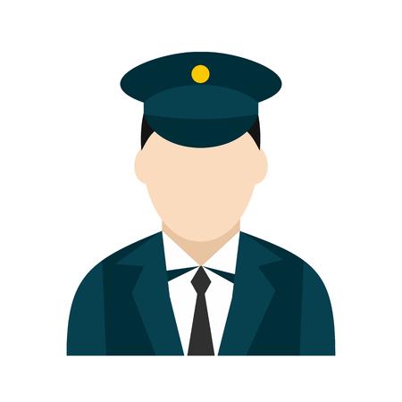 Icône de conducteur de train Banque d'images