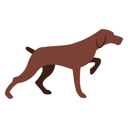 Hunting dog icon Stock Photo