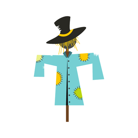 Scarecrow icon flat