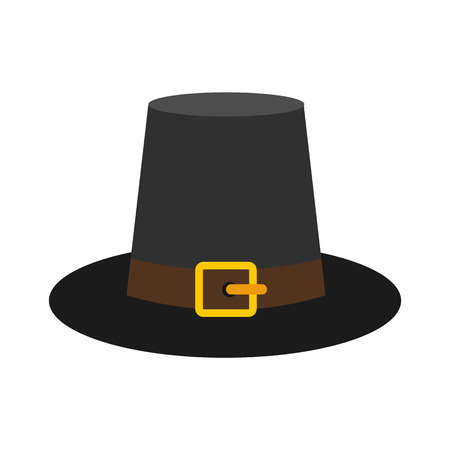Gorgeous pilgrim hat icon 免版税图像