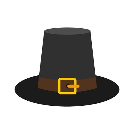Precioso icono de sombrero de peregrino Foto de archivo