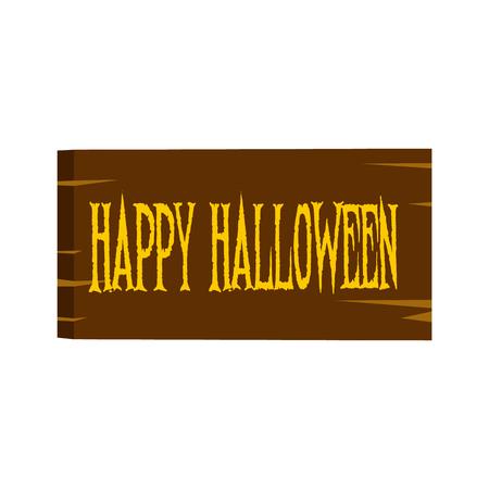 Signboard happy halloween icon Stock Photo