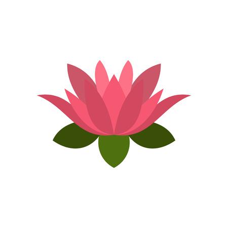 lotus flower icon, flat style