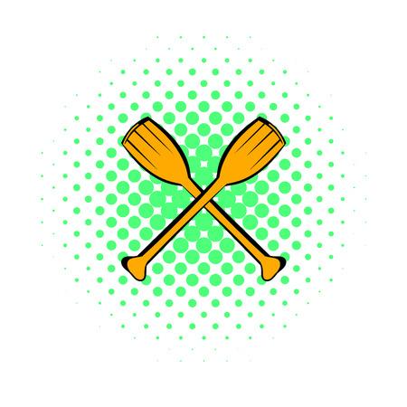 Paddle icon, comics style Stock Photo