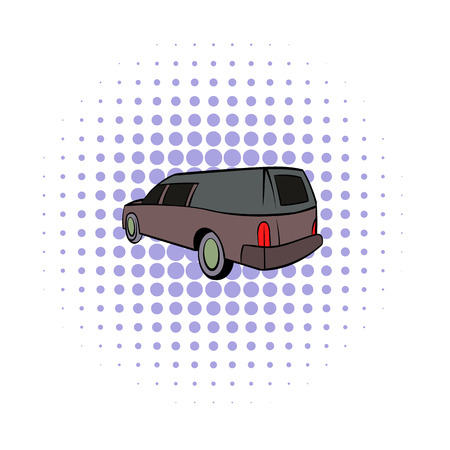 Hearse icon, comics style Stock Photo