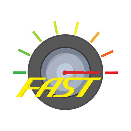 Fast meter icon, cartoon style