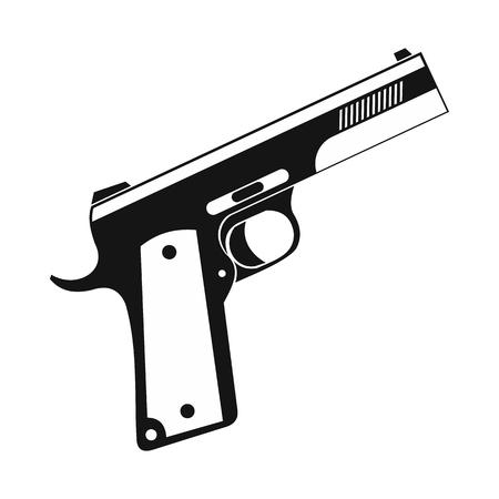 Gun icon, black simple style
