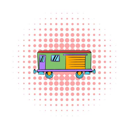 Railroad carriage icon, comics style 写真素材