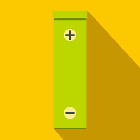 Battery icon, flat style