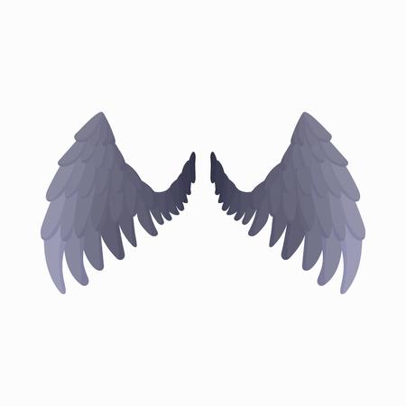 Eagle wings icon, cartoon style 免版税图像