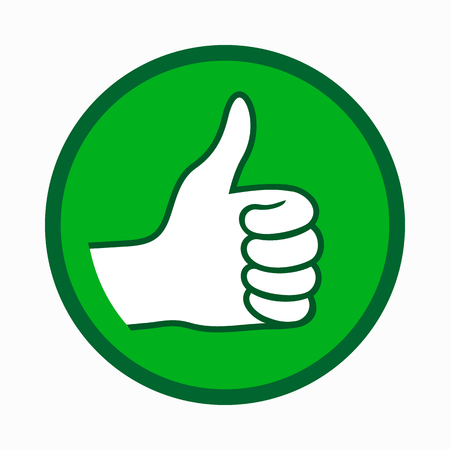 Icono de pulgar hacia arriba, estilo simple