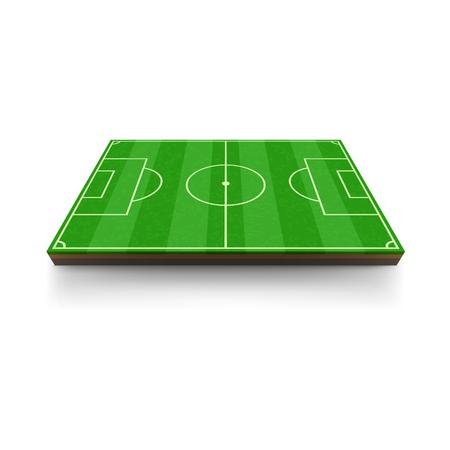 Football field icon, cartoon style Standard-Bild - 107752212
