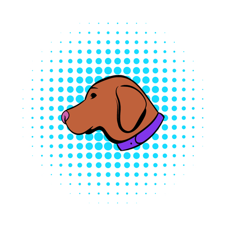 Hunting dog icon, comics style