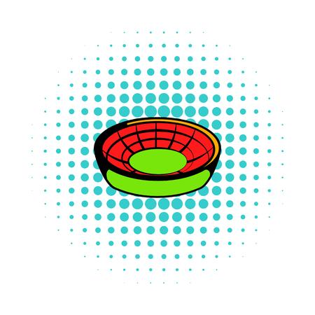 Round stadium icon, comics style