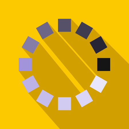 Loading circle sign icon in flat style Stock Photo