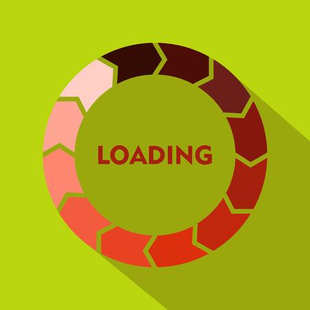 Circle loading icon, flat style