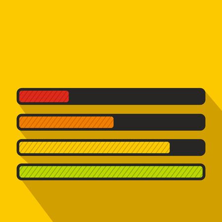 Progress loading bar icon, flat style