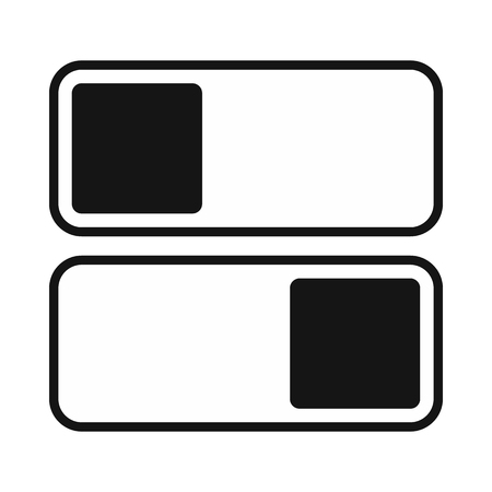 Toggle switch on, off position icon, simple style