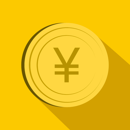 Yen icon, flat style