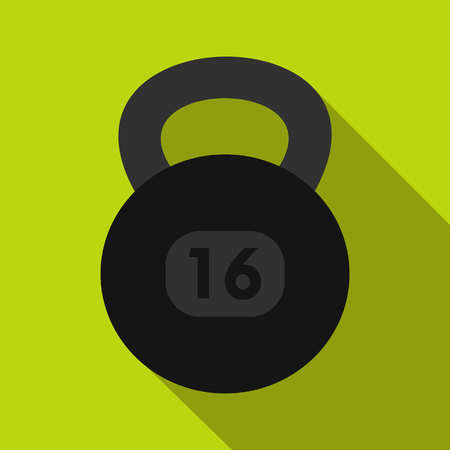Kettlebell icon in flat style