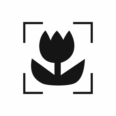 Macro lens mode icon, simple style Banco de Imagens