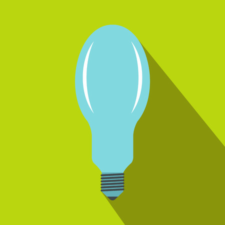Bulb icon in flat style