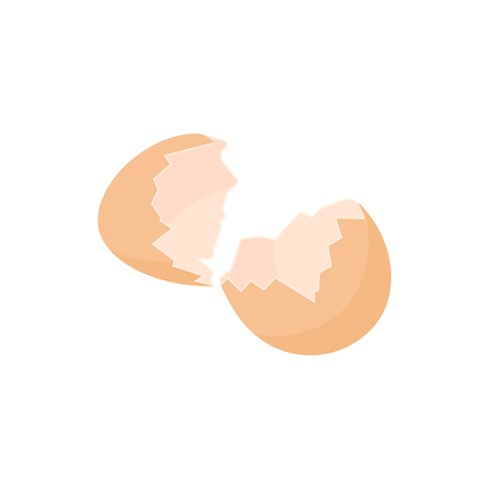 Eggshell icon in cartoon style
