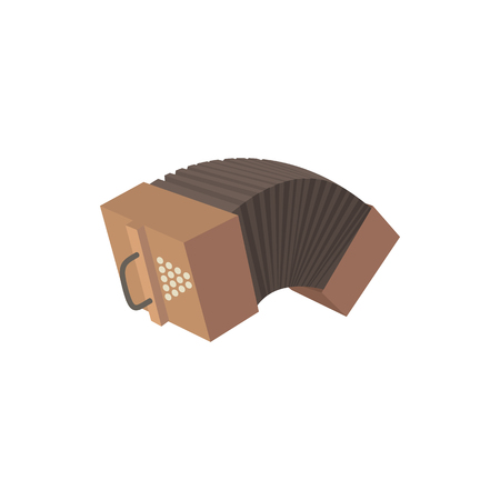 Bandoneon accordion icon, cartoon style