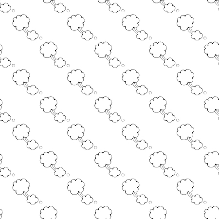 Speech bubble pattern seamless black for any design Stock Photo