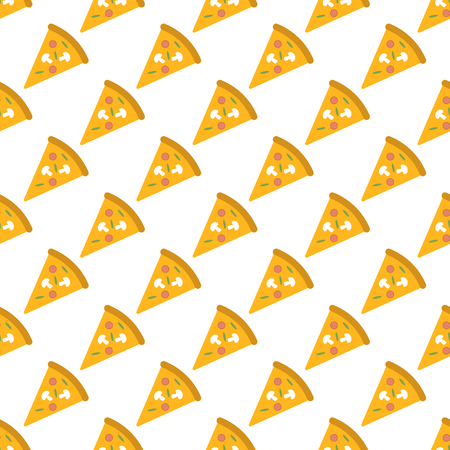 Pizza pattern seamless black for any design Stock Photo