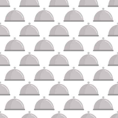 Restaurant cloche pattern seamless black for any design