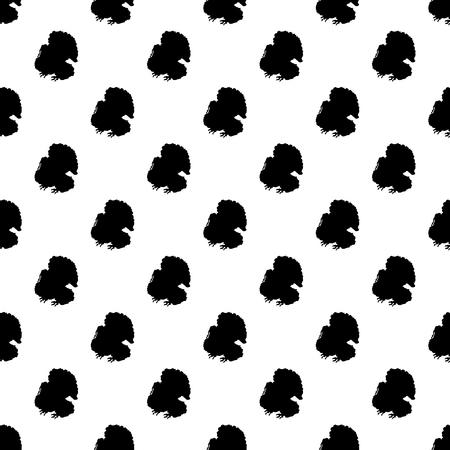 Turkey pattern seamless black for any design