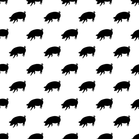 Pig pattern seamless black for any design
