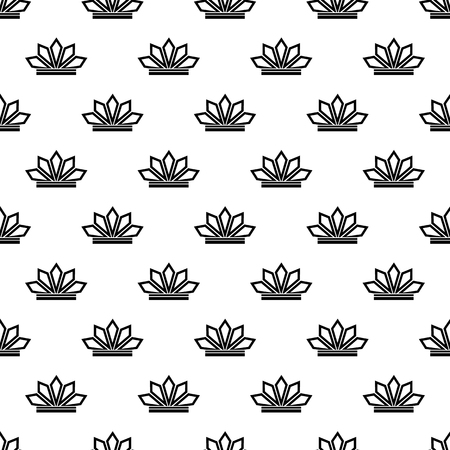 Crown pattern seamless black for any design Stock Photo - 107753536