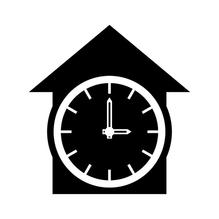 Clock icon in simple style isolated on white