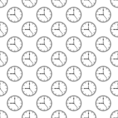 Clock pattern seamless black for any design Archivio Fotografico